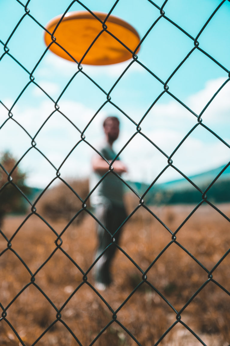 People fence cage portrait